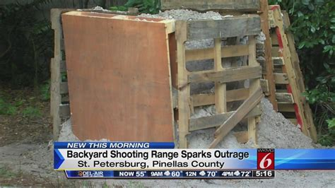 backyard range shooting range in florida backyard irks neighbors