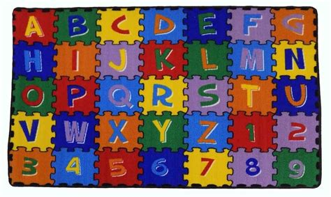 large classroom rugs for alphabet puzzle area rug new