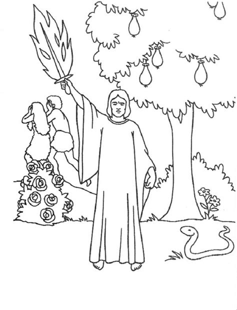 coloring page of the garden of eden coloring pages garden of eden kids coloring page gallery