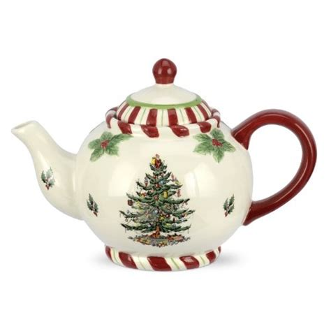 spode christmas tree peppermint teapot teapots