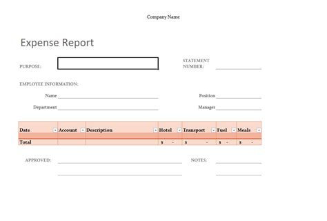 Excel Expense Report Template Expense Report Template Excel Excel Report Templates