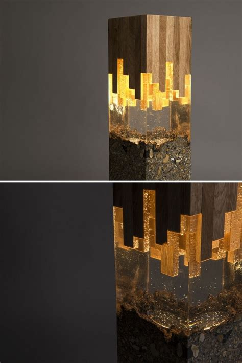 wood resin lamp wood resin unique lamps wood lamps
