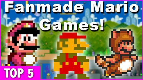 fan made mario games top 5 super mario fan made games ft badmanreviews youtube