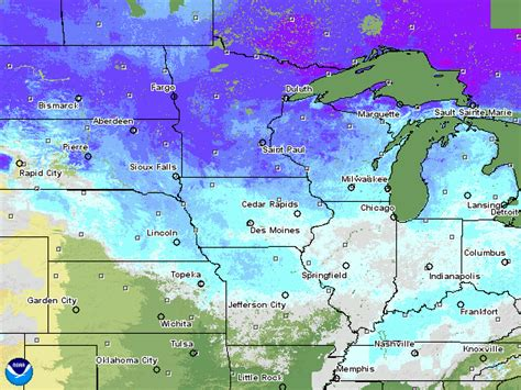 snow depth map flood concerns waow weather