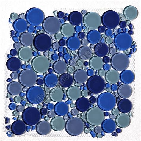 round bubbles glass tile mosaic crystal glass bubbles round mosaic glass tile royalty blue