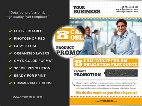 templates for business flyers free free business flyer template psd download