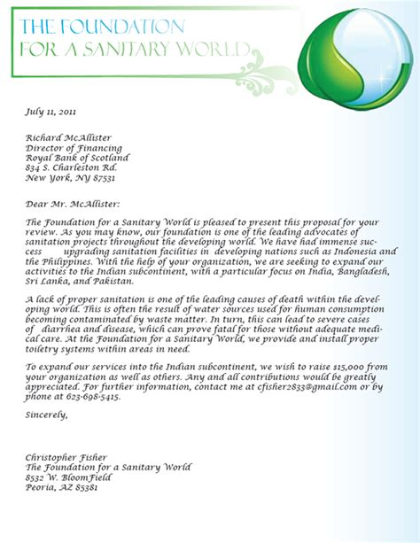 grant proposal cover letter on behance