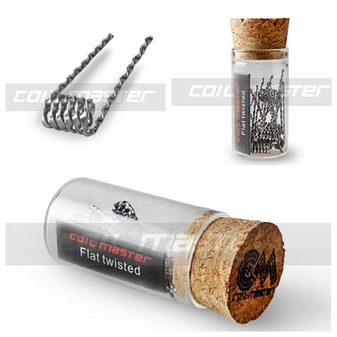 Premium Twisted Messes Fused Clapton Royal Pre Build Coil 1 Pasang 100 original coil master premium pre built coil flat twisted hive fused clapton mix twisted