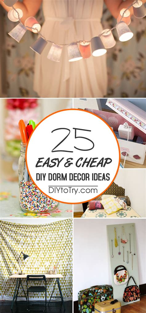 college diy projects 25 easy cheap diy decor ideas
