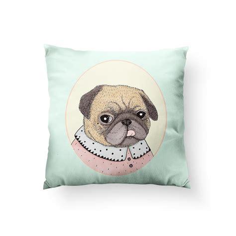 Pug Pillows by Pug Portrait Throw Pillow Sharp Shirter