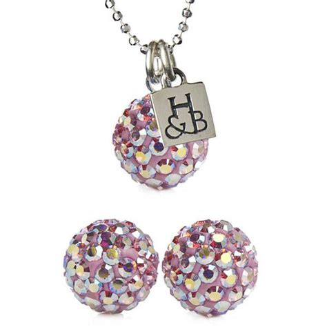 Sparkle It Jewelry Makes Me Faint by Light Pink Sparkle Earring Necklace Set Liked On