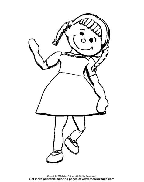 rag doll coloring page rags free coloring pages