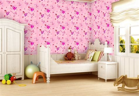 kids bedroom wallpaper pin design and house kids room cute pink dotty wallpaper