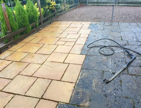 Cleaning Patio Stones by Patio Cleaning Rls Restoration