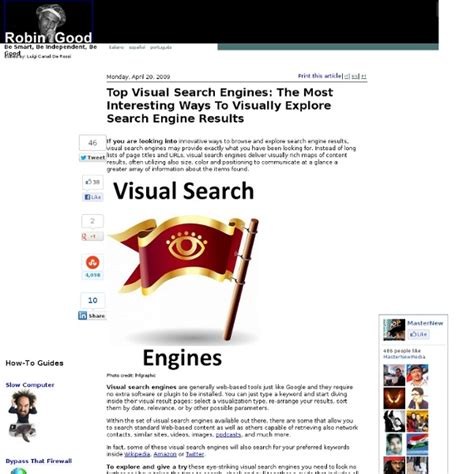 What Search The Most Top Visual Search Engines The Most Interesting Ways To Visually Explore Search Engine