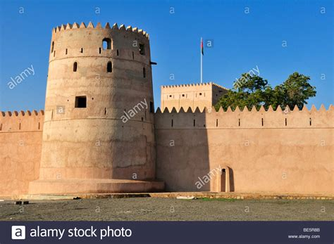 adobe ft historic adobe fortification liwa fort or castle batinah region stock photo royalty free image