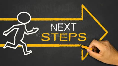 New Business Next Steps All In One Guide To Marketing Managing Gr next steps concept stock image image of strategy future