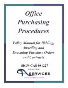 Procurement Policy Template Free by Office Purchasing Policy And Procedures Templates