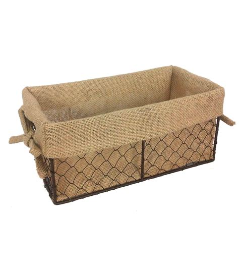 Food Storage Containers Reviews - organizing essentials 11x6 wire basket with burlap liner at joann com