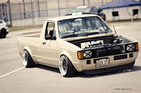 volkswagen rabbit pickup stanced slammed vw rabbit truck vw caddy golf 1 mk1