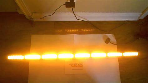 traffic advisor light bar 50 quot amber directional traffic advisor strobe emergency