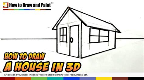 how to draw a 3d house how to draw a house in 3d for kids easy things to draw