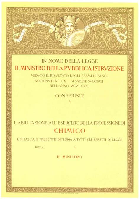 tecnologo alimentare roma esami di stato diploma originale di abilitazione