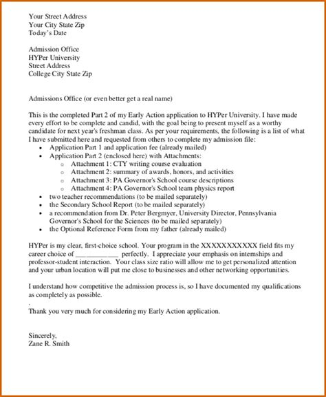 College Admission Appeal Letter Format college application letter