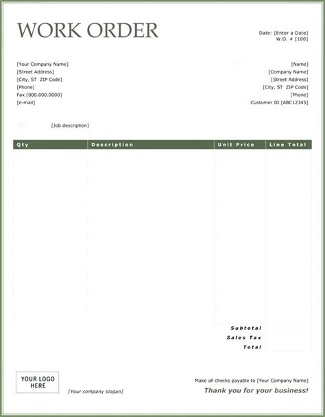 receipt work done template printable receipts for work done likepet me