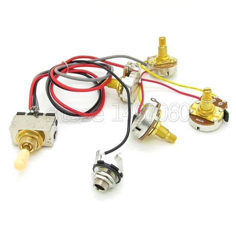 switch volume 1 1632157128 guitar wiring harness 3 way toggle switch 2 volume 2 tone 250k gold pots in guitar parts