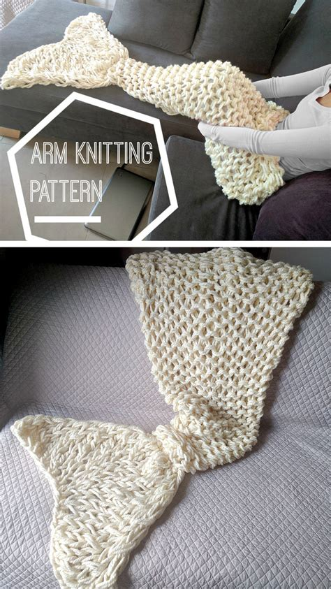 arm knit arm knitting and finger knitting in the loop knitting