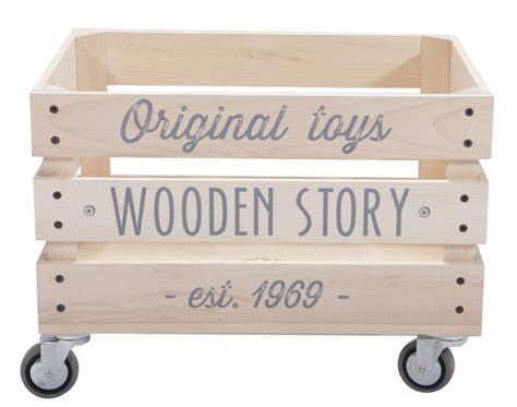 crate on wheels wooden storage crate on wheels by lullabuy notonthehighstreet