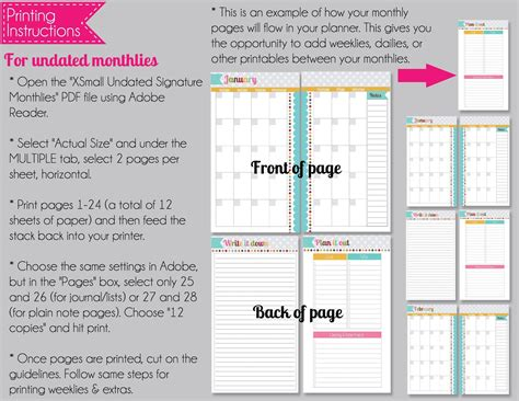 x small printable budget planner set sized 3 75x6 75 the polka dot posie new x small personal size planner