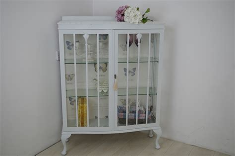 vintage shabby chic display cabinet painted vintage