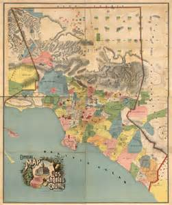 colorful map shows l a as a patchwork of rancho era land
