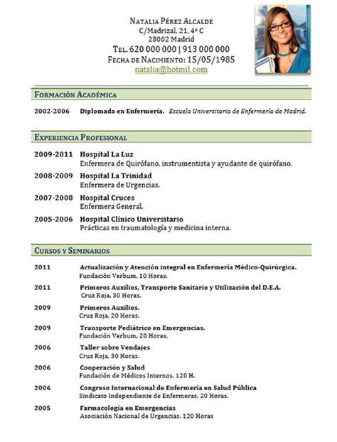 Modelo Curriculum Vitae De Enfermeria Elaboraci 243 N Curriculum De M 233 Dicos O Enfermeras Plantillas De Cv Para Hospitales Cvexpres