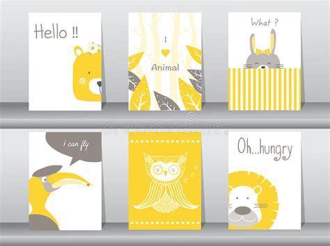 animal cards template clear set of animals poster template cards bird