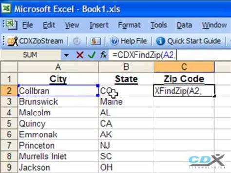 printable area code list youtube zip code finder in excel youtube