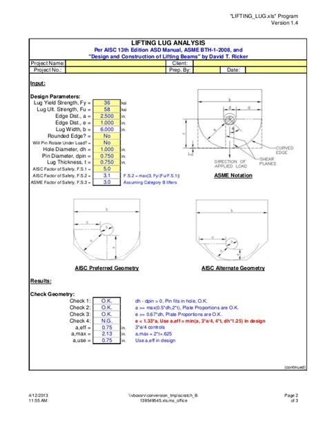 design criteria for lifting lugs 135613248 lifting lug