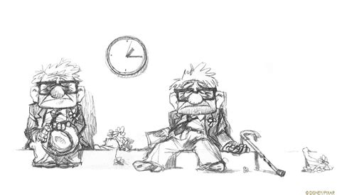 layout artist pixar living lines library up 2009 character design