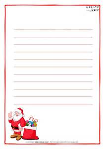 Letter Paper Template by Letter To Santa Claus Paper Template With Lines Santa