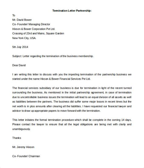 termination letter template word remarkable business partnership termination letter