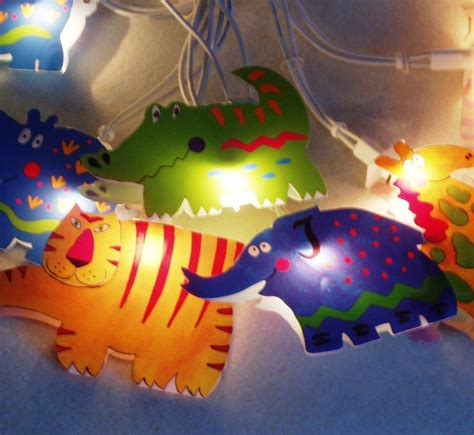 Child S Jungle Animals String Fairy Lights By British And Animal String Lights