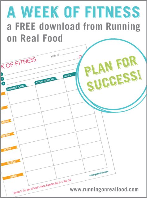 Galerry printable food and exercise planner