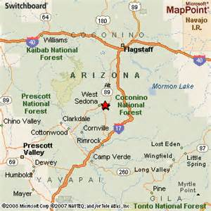 where is sedona arizona on the map sedona arizona