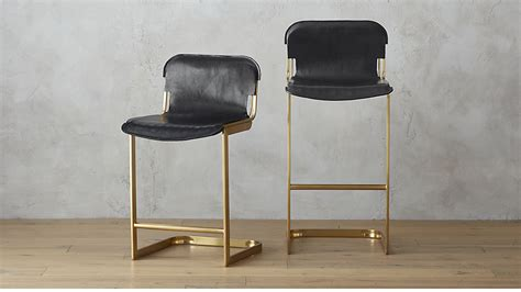 Rake Brass Bar Stools Cb2 Leather Chairs For Sale