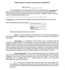 Basic Service Agreement Template by Sle Service Agreement 7 Exle Format