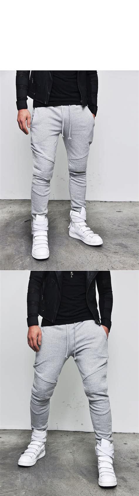 Sweater Hoodie Zipper Uber New Edition Terlaris seaming detailed mens runway biker jersey black gray sweatpants by guylook ebay