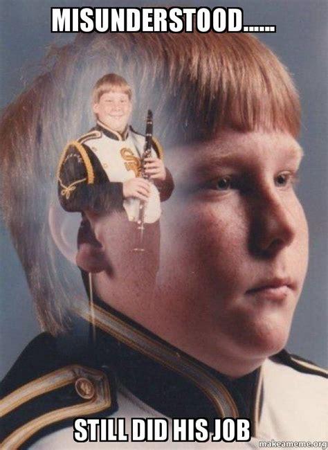 Clarinet Kid Meme - ptsd clarinet boy meme