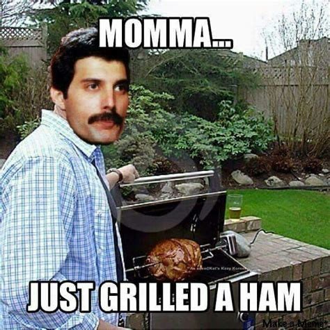 Ham Meme - queen freddie mercury bohemian rhapsody humor random